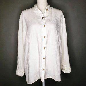 Spirit 100% Linen Long Sleeve Button Down Shirt